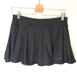 Nike Dry Fit Tennis Skirt Skort Black Women's M